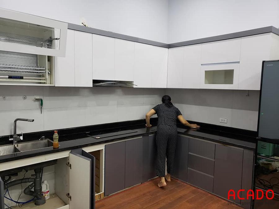 Công trình tủ bếp ACADO thi công hoàn thiện cho khách hàng tại Thanh Xuân - Hà Nội