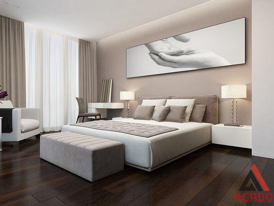 Tone màu nhẹ nhàng tôn vinh vẻ đẹp của căn phòng.