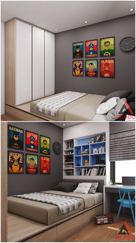 Phong ngủ con yêu sẽ là nơi vui chơi giải trí và học tập.