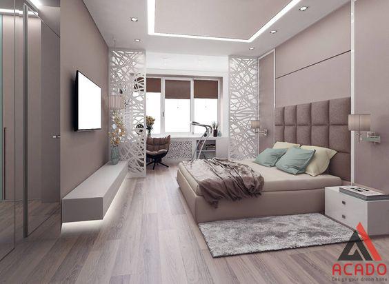 Phòng ngủ bố mẹ phong cách hiện đại sang trọng.