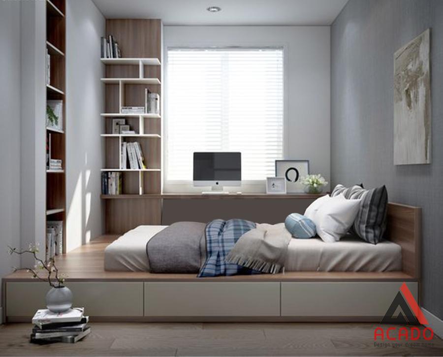 Đây là mẫu phòng ngủ dành cho những bé thích sự đơn giản