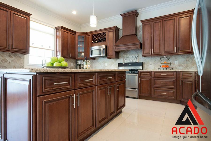 Không chỉ trong lĩnh vực tủ bếp mà cả nội thất cũng ít loại gỗ nào vượt được gỗ óc chó.