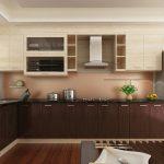 Mẫu tủ bếp Laminate