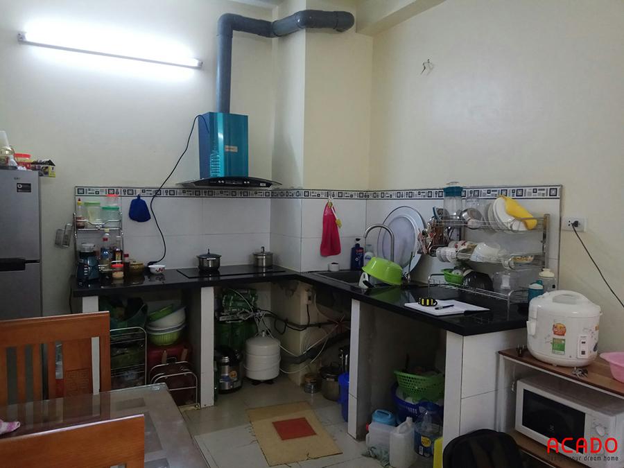 Hiện trạng căn bếp của gia đình đang sử dụng