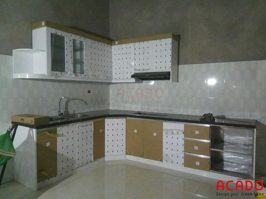 Hình ảnh vừa hoàn thành của tủ bếp tại Bình Đà