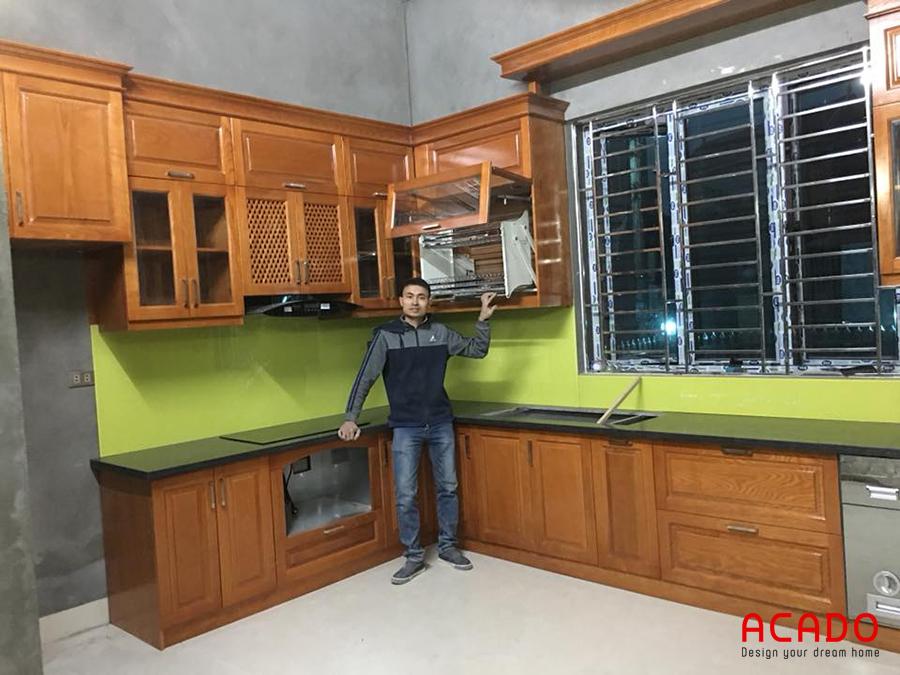 Hình ảnh hoàn thành tủ bếp tại Vân Giang - Hưng yên.