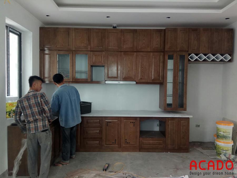 Các ang thợ của acado đang hoàn thiện những công đoạn lắp ráp cuối cùng.