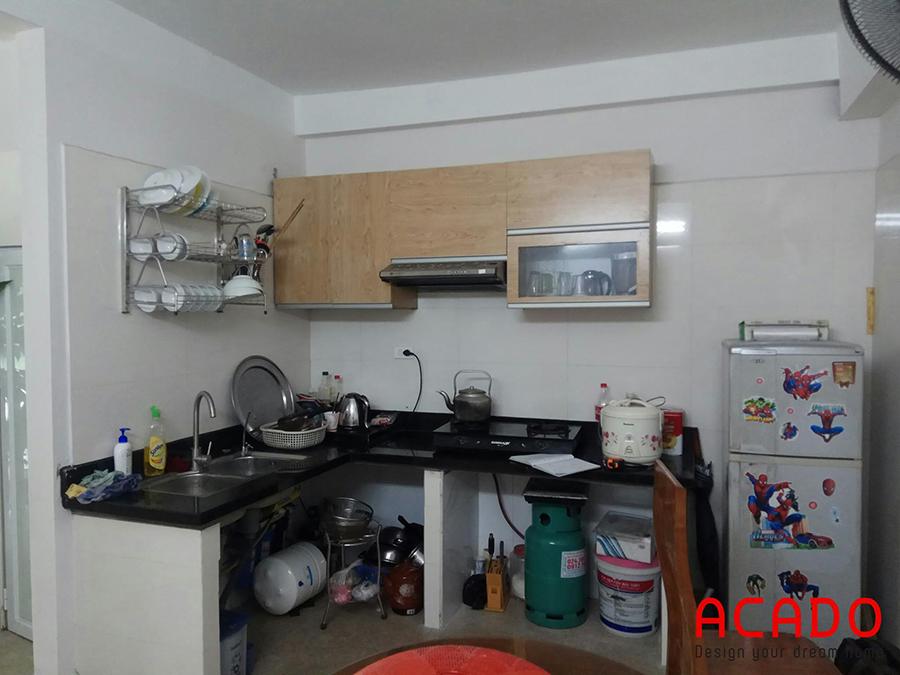 Hiện trạng tủ bếp của gia đình anh chị Kiên