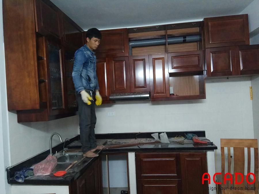 Tủ bếp tại Tứ Hiệp-Thanh Trì