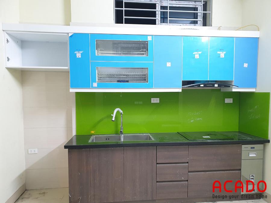 Tủ bếp khi đã hoàn thành xong