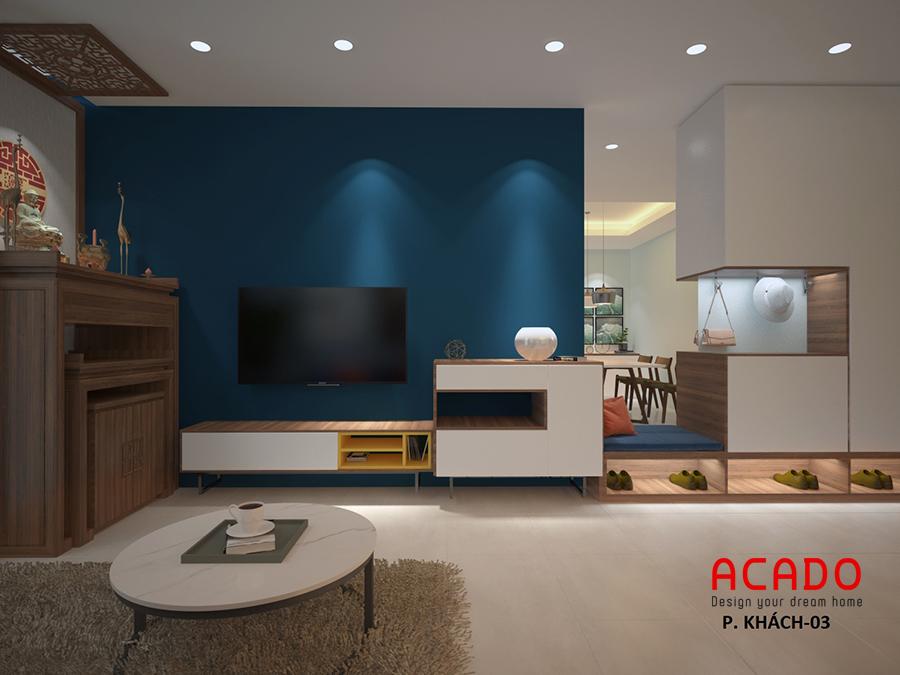 Thiết kế nội thất tại Nguyễn Tuân phòng khách