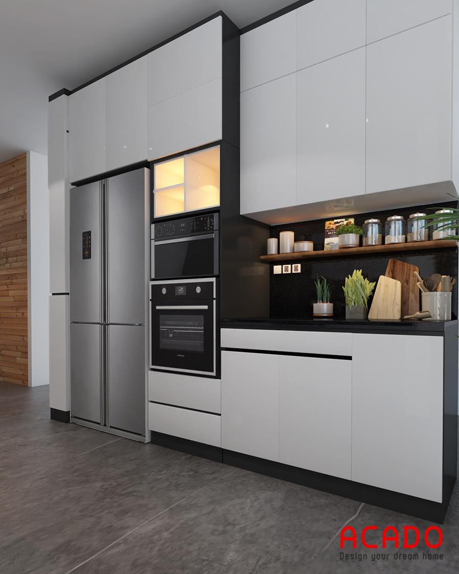 Tủ bếp sử dụng gỗ MDF cốt chống ẩm
