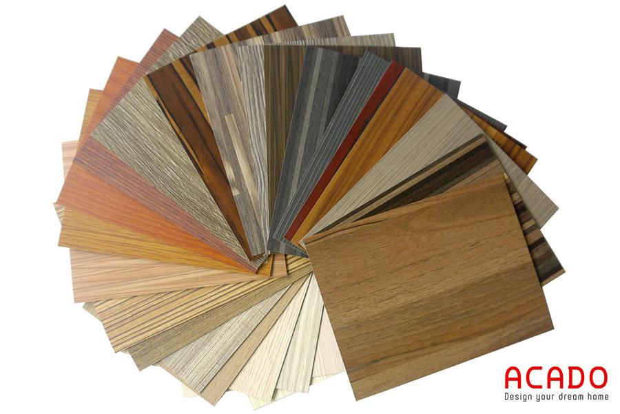 Chất liệu Melamine có nhiều màu sắc để chọn lựa