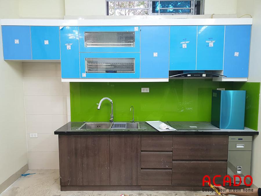 Công trình tủ bếp picomat nhà anh Lương tại Kim Mã