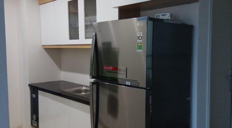 Tủ bếp Melamine hiện đại ACADO thi công tại gia đình anh Nam tại Hoàng Mai - Hà Nội