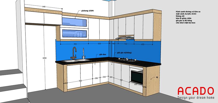 Thiết kế tủ bếp tại Ngô Thì Nhậm cho gia chủ của Acado