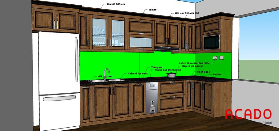 Ý tưởng thiết kế tủ bếp tại Thanh Oai của Acado cho gia chủ