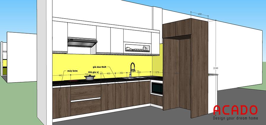 Thiết kế tủ bếp tại Văn Khê của Acado cho gia chủ