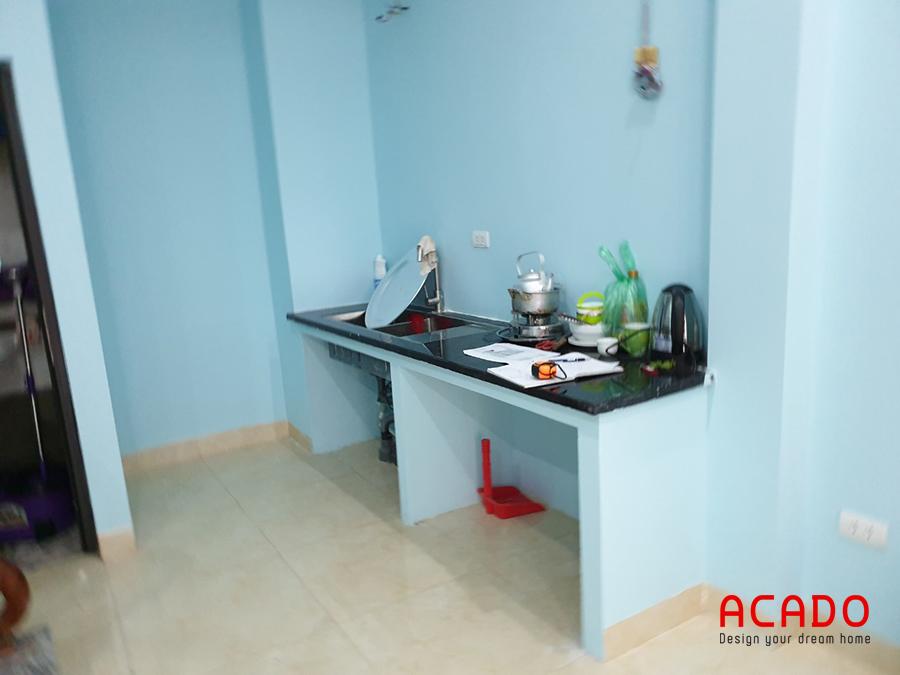Tủ bếp tại Yên Nghĩa gia đình anh Hồng khi Acado đến khảo sát hiện trạng