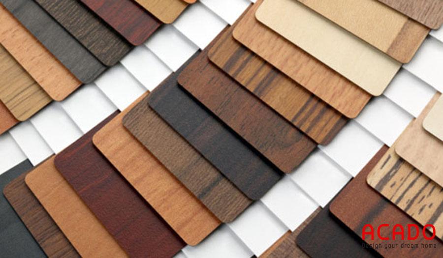 Vật liệu Melamine với rất nhiều màu sắc để chọn lựa