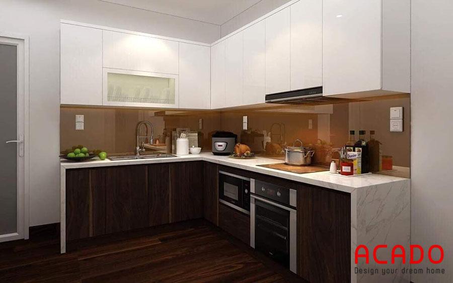 Tủ bếp Melamine mang lại vẻ hiện đại trẻ trung cho căn bếp
