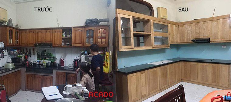 Cải tạo tủ bếp cũ đã qua sử dụng
