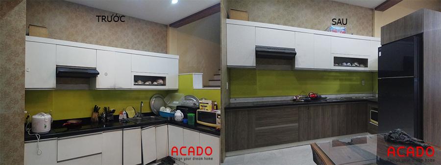Hình ảnh trước và sau khi Acado thi công