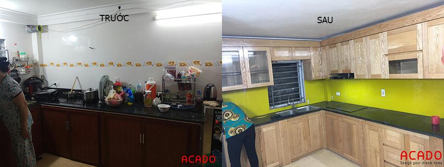 Căn bếp thay đổi hoàn toàn khi được cải tạo
