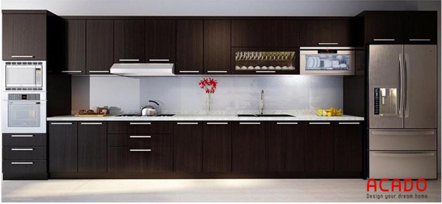 Tủ bếp Laminate với khả năng chống mài mòn, trầy xước vượt trội