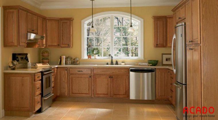 Có nên làm tủ bếp gỗ sồi Mỹ?