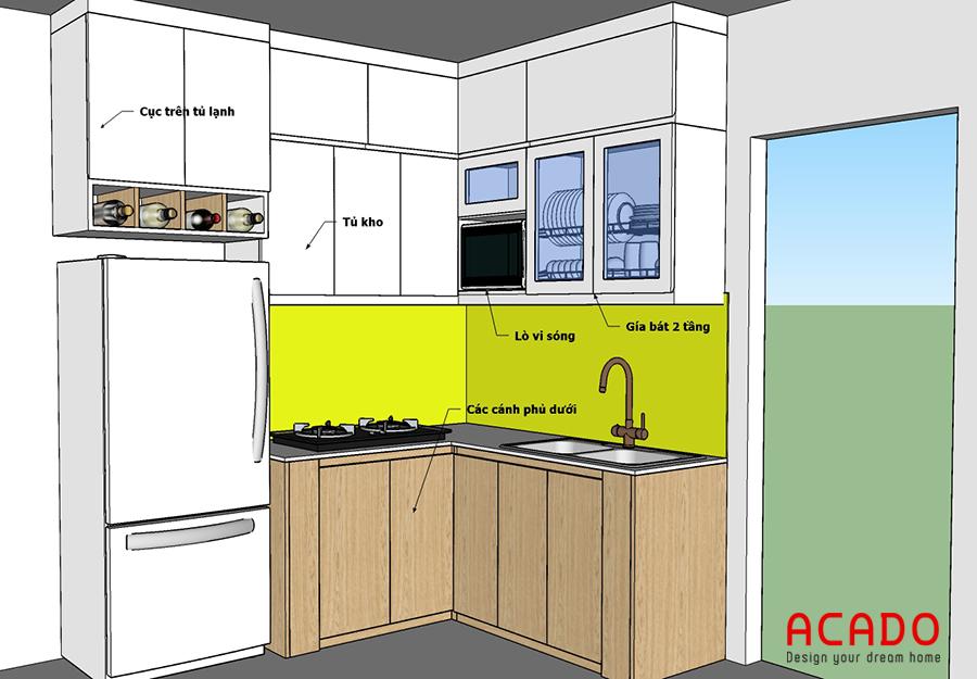 Phương án thiết kế tủ bếp cho gia chủ