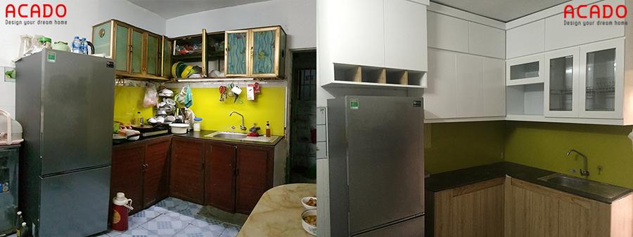 Căn bếp của gia chủ có diện mạo hoàn toàn mới sau khi Acado thi công xong