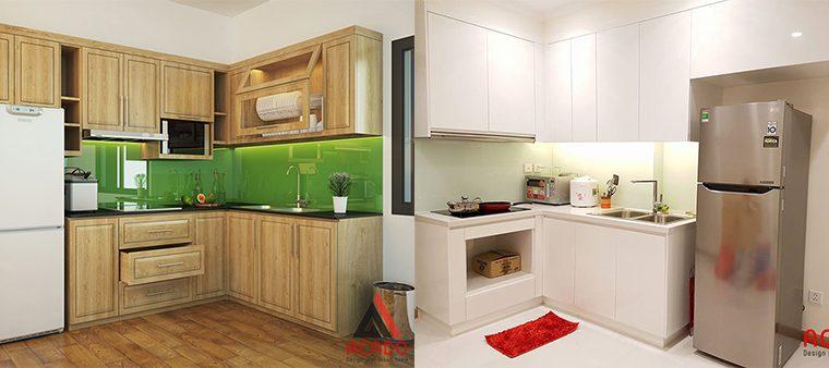 Nên chọn tủ bếp gỗ tự nhiên hay gỗ công nghiệp