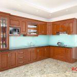 Tủ bếp gỗ xoan đào có bền không?