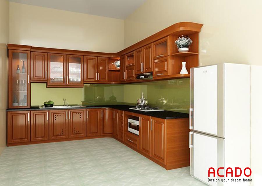 Nếu bạn ưa thích phong cách cổ điển thì mẫu tủ bếp là sự lựa chọn hoàn hảo