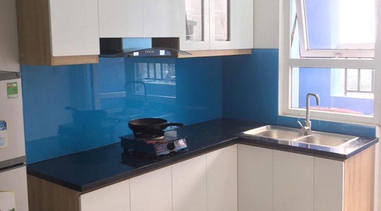 Tủ bếp khi đã thi công hoàn thiện xong - tủ bếp Quang Trung