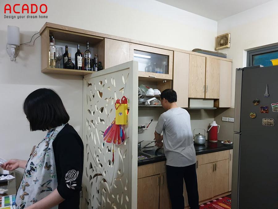 Hiện trạng căn bếp nhà anh Dân khi Acado đến khảo sát