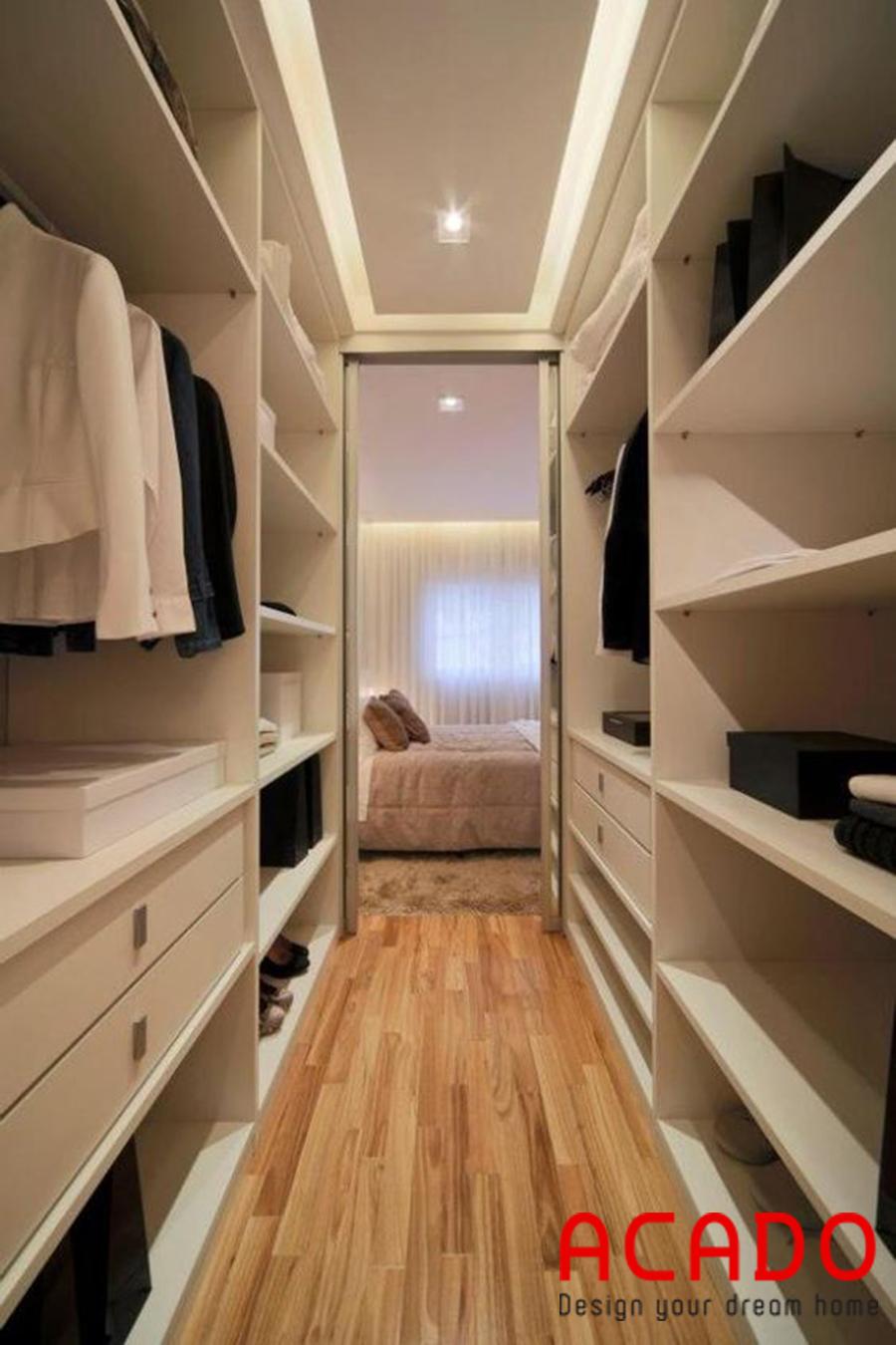 Tủ quần áo không cánh cho phòng thay đồ của bạn