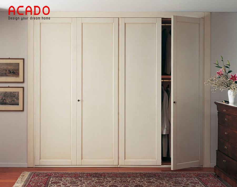 Mẫu tủ quần áo âm tường hiện đại và tiện dụng