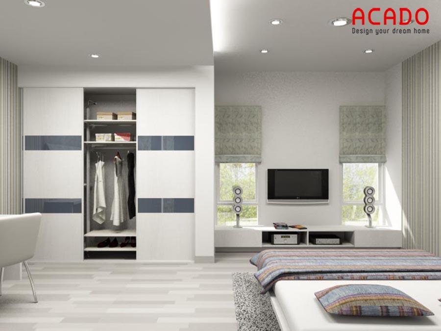 Mẫu tủ quần áo âm tường hiện đại và tiết kiệm diện tích