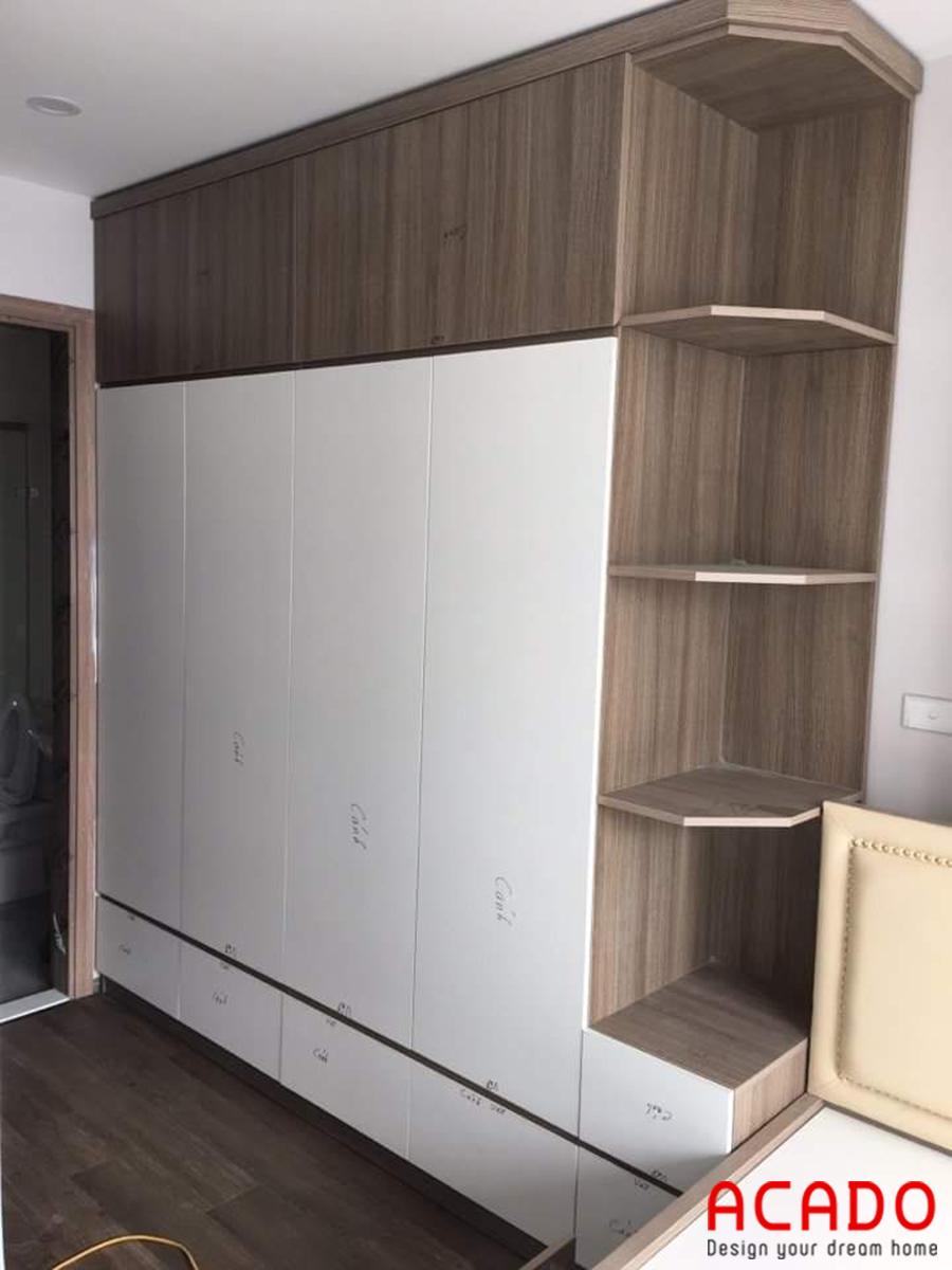 Mẫu tủ quần áo Melamine được thiết kế đa năng