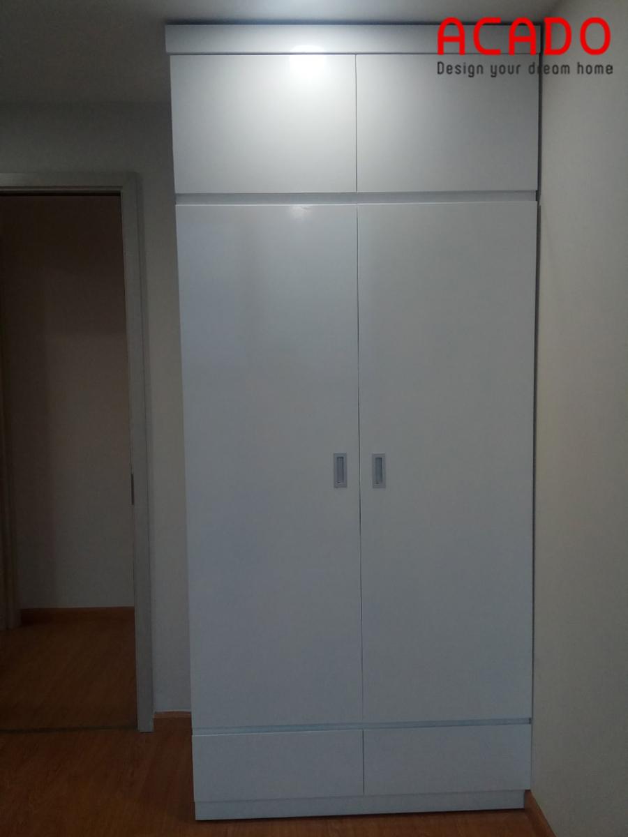 Bạn thích đơn và sử dụng tối đa công năng thì đây là mẫu tủ quần áo phù hợp với bạn