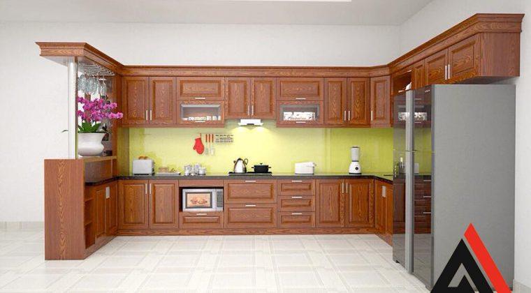 Với không gian bếp rộng thì mẫu tủ bếp này là sự lựa chọn hoàn hảo