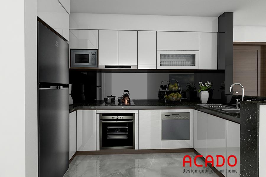 Bố trí các thiết bị một cách hợp lý giúp việc nấu nướng trở lên dễ dàng