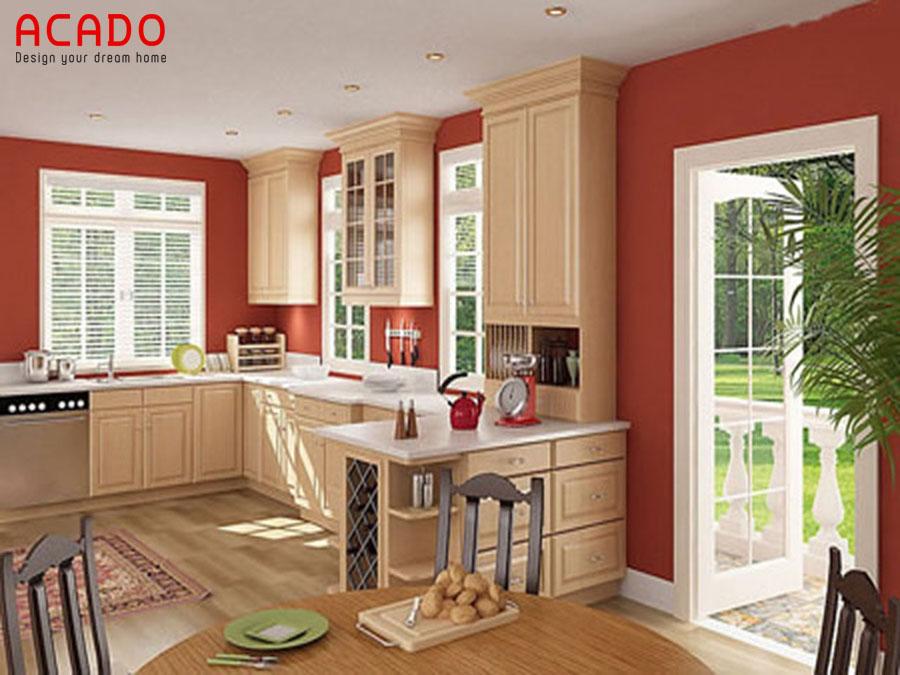 Nhà bếp và những điều cần tránh - đường từ cửa đâm thẳng vào bếp