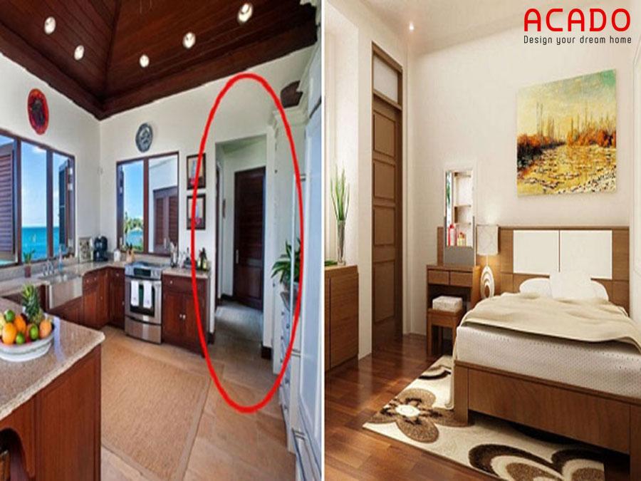 Nhà bếp và những điều cần tránh - nhà bếp đối diện phòng ngủ