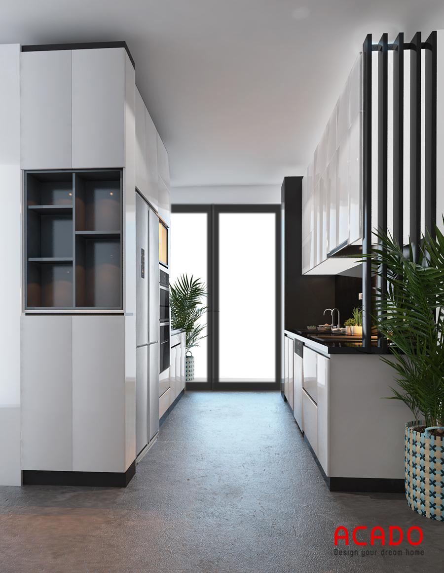 Mẫu tủ bếp với thiết kế đối xứng đang là xu thế hiện nay