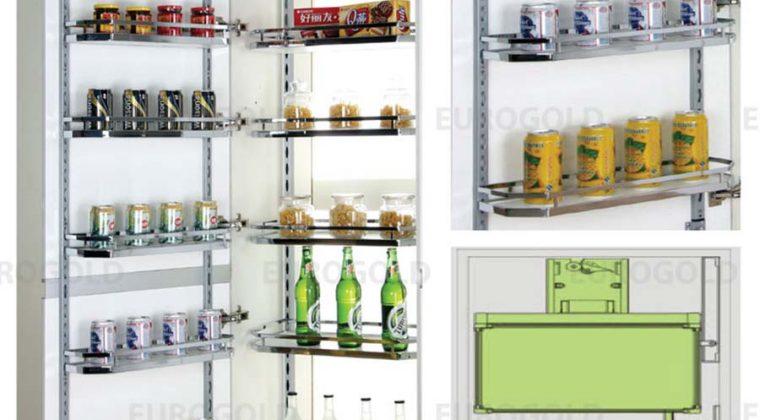 Tủ kho chứa đồ - giải pháp hữu ích cho không gian bếp