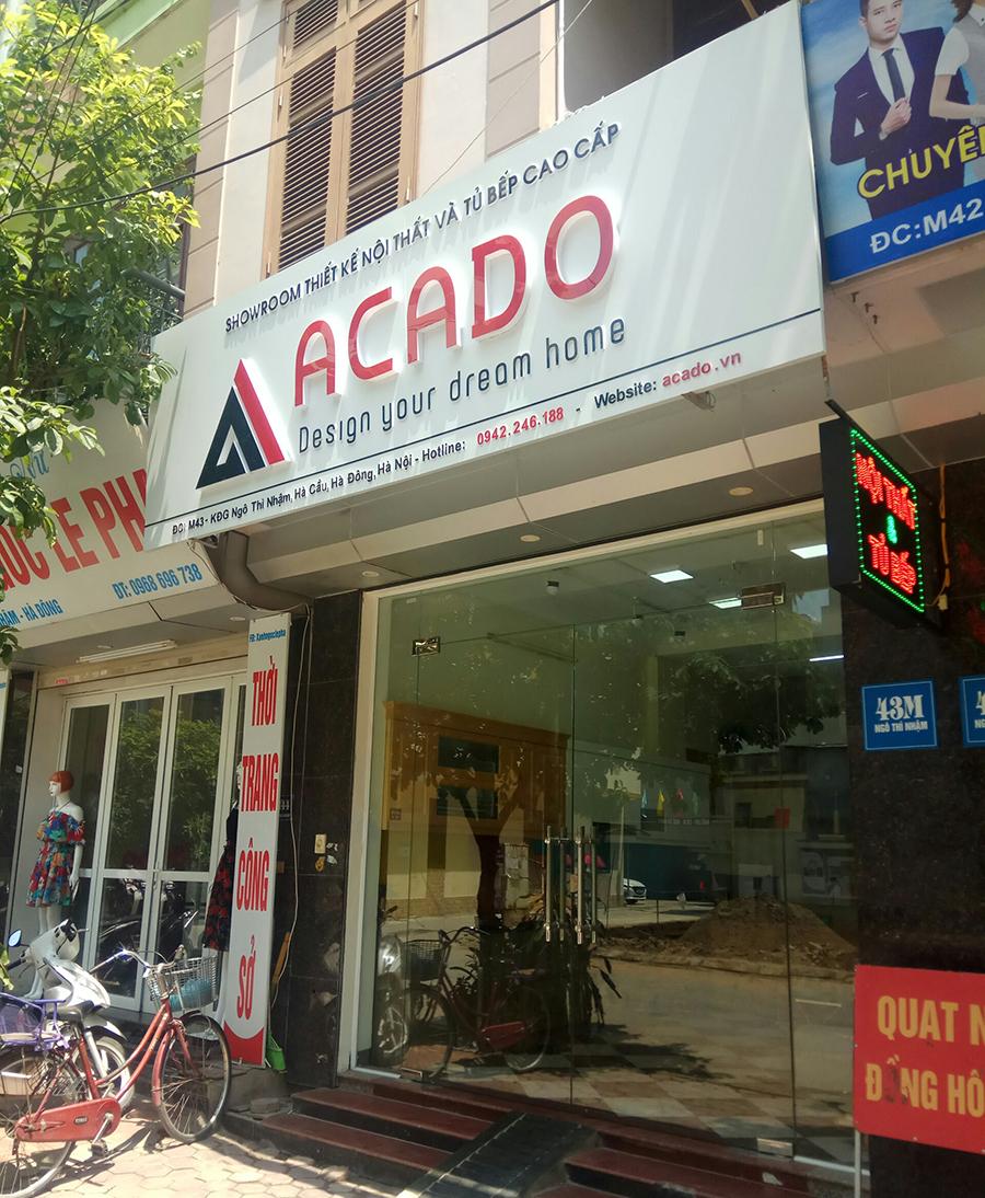 Showroom nội thất Acado tại Hà Đông.
