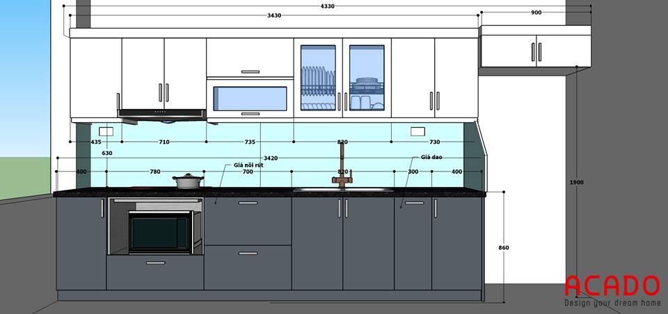 Phương án thiết kế của Acado.